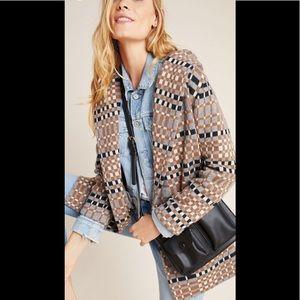 Anthropologie Josefa Wool Sweater Coat size xl